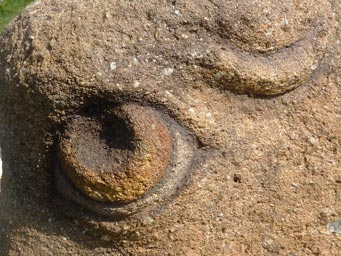 Close up of an eye in sandstone