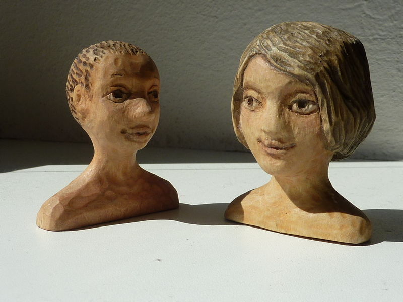 Carved portraits